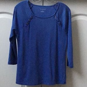 Royal Blue Talbots 3/4 Sleeve Top Size: M